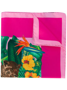 нагрудный платок с рисунком на тему джунглей Kiton