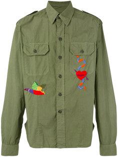 рубашка с вышивкой и нагрудными карманами History Repeats