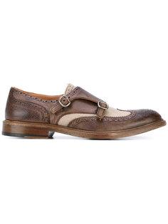 туфли-монки с панельным дизайном Al Duca D'Aosta 1902