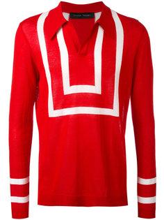 свитер с воротником-поло и полосками Christian Pellizzari