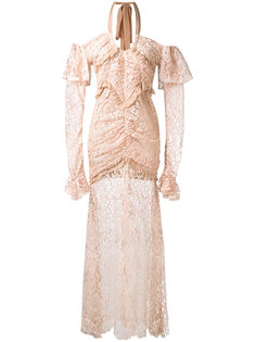 long-sleeve lace gown Alessandra Rich