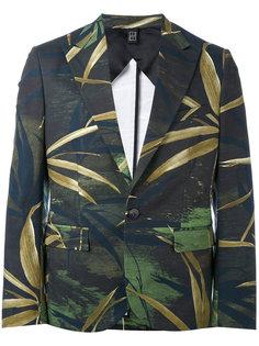 парусиновый пиджак с растительным принтом Christian Pellizzari