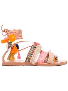 сандалии с кисточками Papaya Mabu