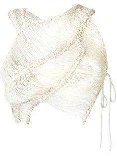 плетеный укороченный топ  Isabel Benenato