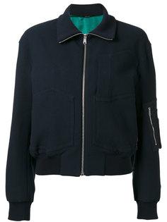 куртка-бомбер  с накладными карманами Paul Smith