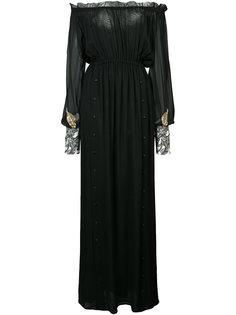 off-shoulders semi-sheer maxi dress Loyd/Ford