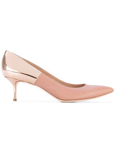 туфли на каблуках металлик Casadei