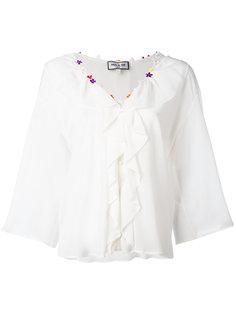 блузка с отделкой оборками Paul & Joe