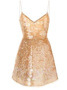 вечернее платье с пайетками Monique Lhuillier