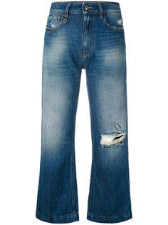 укороченные джинсы с потертой отделкой Cycle