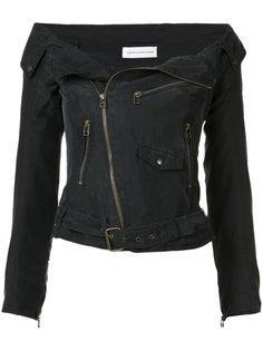 байкерская куртка с заниженной линией плеч Faith Connexion