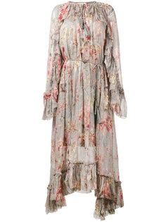 платье с цветочным принтом Zimmermann