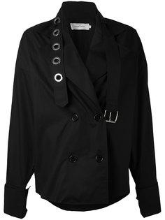 двубортное пальто с лямками Marquesalmeida