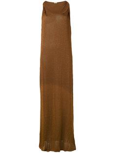 длинное платье на лямках Tomas Maier