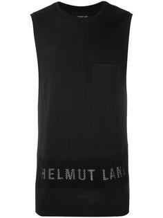 майка с логотипом бренда Helmut Lang