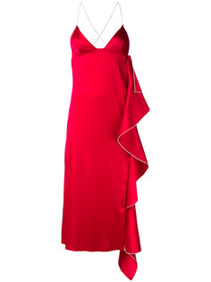 платье с каскадным разрезом Ssheena