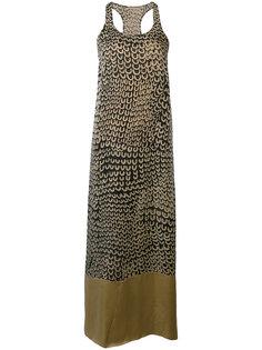 платье миди без рукавов  Uma Wang