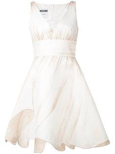 платье с расклешенной юбкой Moschino