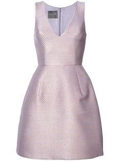 расклешенное платье с эффектом металлик Monique Lhuillier