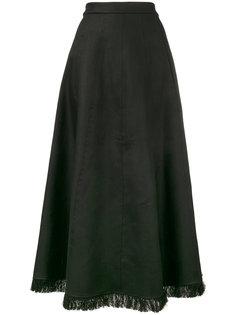 длинная юбка с бахромой на подоле Barbara Casasola