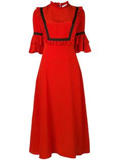 платье миди с рюшами Vivetta