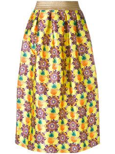присборенная юбка с принтом ананасов Amuse
