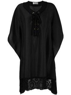 блузка со шнуровкой и кружевной отделкой Faith Connexion