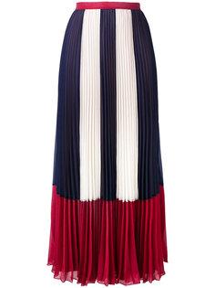 плиссированная юбка с полосатыми панелями Red Valentino