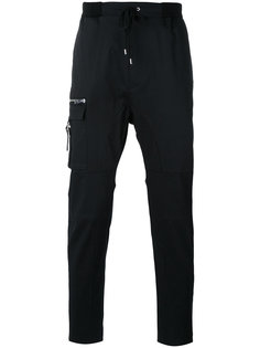 брюки кроя слим с карманом на молнии Les Hommes Urban