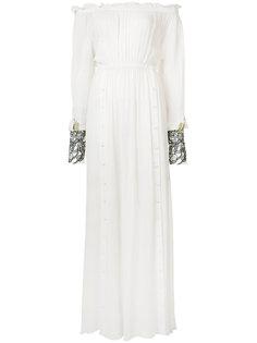 gathered sheer maxi dress Loyd/Ford