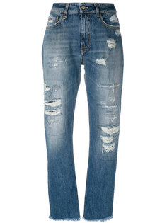 джинсы прямого кроя с потертой отделкой Cycle