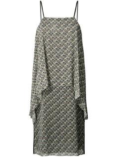 драпированное платье с принтом Elizabeth And James
