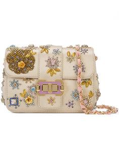 сумка на плечо с бусинами Monique Lhuillier