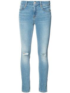 джинсы кроя скинни с потертой отделкой 7 For All Mankind
