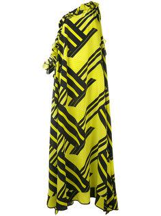 асимметричное платье с геометрическим принтом MSGM