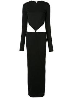 платье-макси с открытой спиной Haider Ackermann