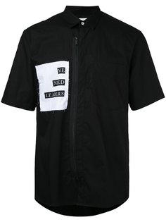 рубашка на молнии спереди  Public School