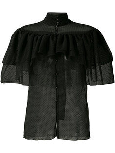 прозрачная рубашка с оборками Rodarte