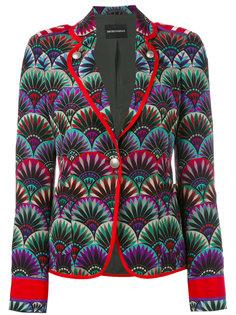 пиджак с вышивкой Emporio Armani