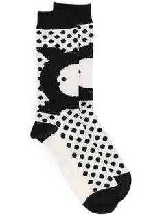 длинные носки с узором Henrik Vibskov