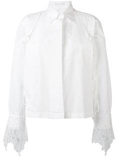 рубашка с кружевной отделкой Ermanno Scervino