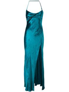 платье с открытой спиной и шлицей спереди Attico