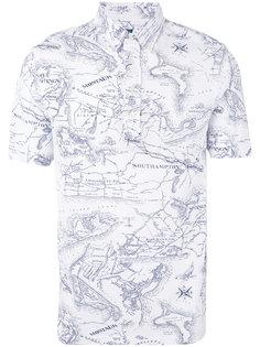 футболка-поло с принтом карты Polo Ralph Lauren