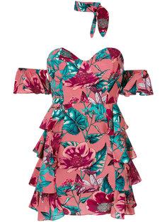 приталенное платье с цветочным принтом For Love And Lemons