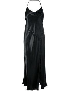 платье на бретелях с открытой спиной Attico