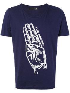 футболка с принтом руки Love Moschino