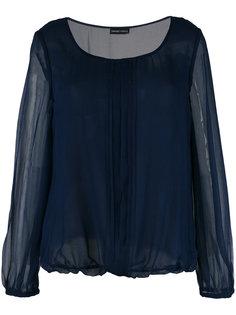 блузка с прозрачными рукавами Emporio Armani