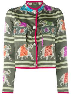 пиджак с вышивкой слонов Emporio Armani