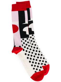 длинные носки с рисунком Henrik Vibskov