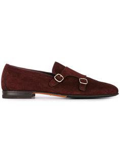 ботинки-монки с пряжками Santoni